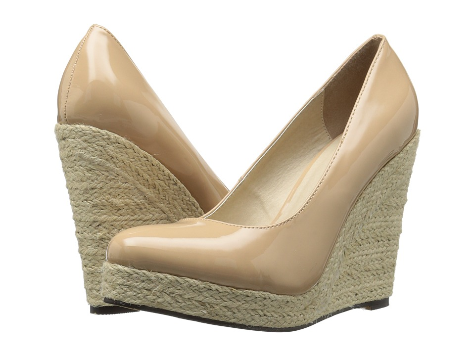 Michael Antonio - Anabel - Patent (Nude Patent) Women's Wedge Shoes