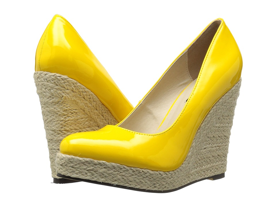 Michael Antonio - Anabel - Patent (Yellow Patent) Women's Wedge Shoes