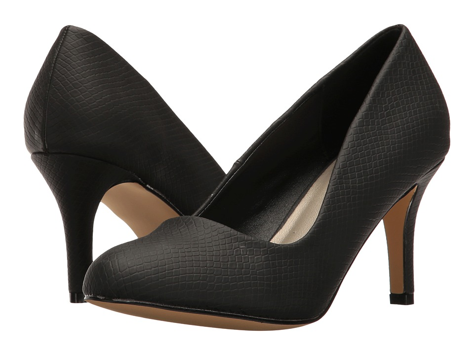 Michael Antonio - Finnea - Reptile (Black Embossed Reptile) High Heels