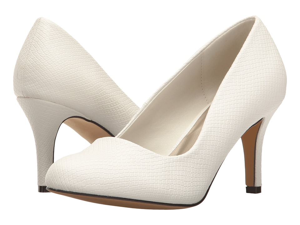 Michael Antonio - Finnea - Reptile (White Embossed Reptile) High Heels