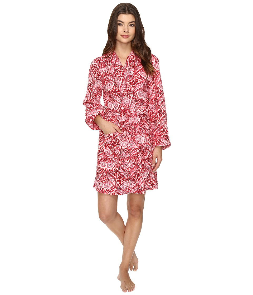 Lucky Brand - Shawl Collar Plush Robe (Wallpaper Floral) Women's Robe
