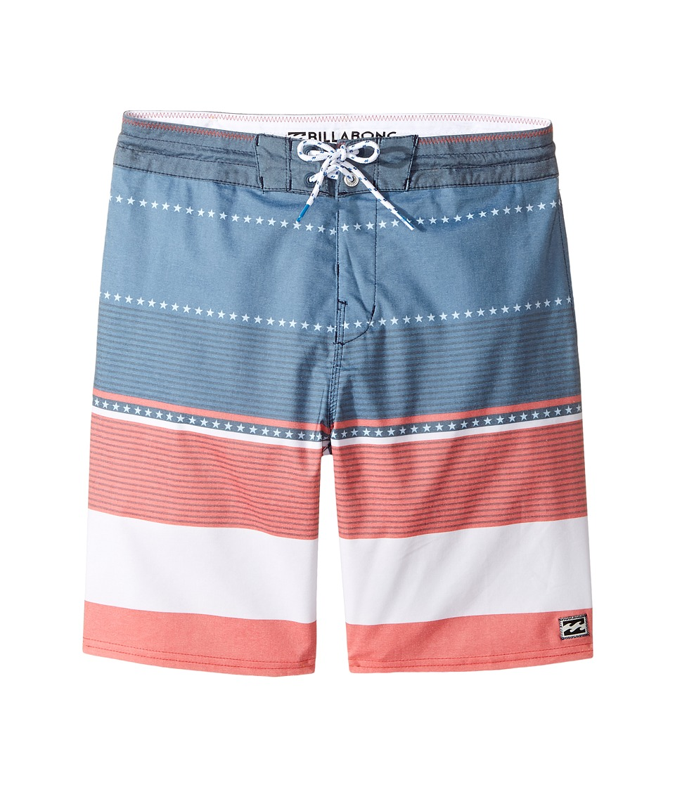 Billabong Kids Spinner LT Print Boardshorts (Big Kids) (Navy) Boy