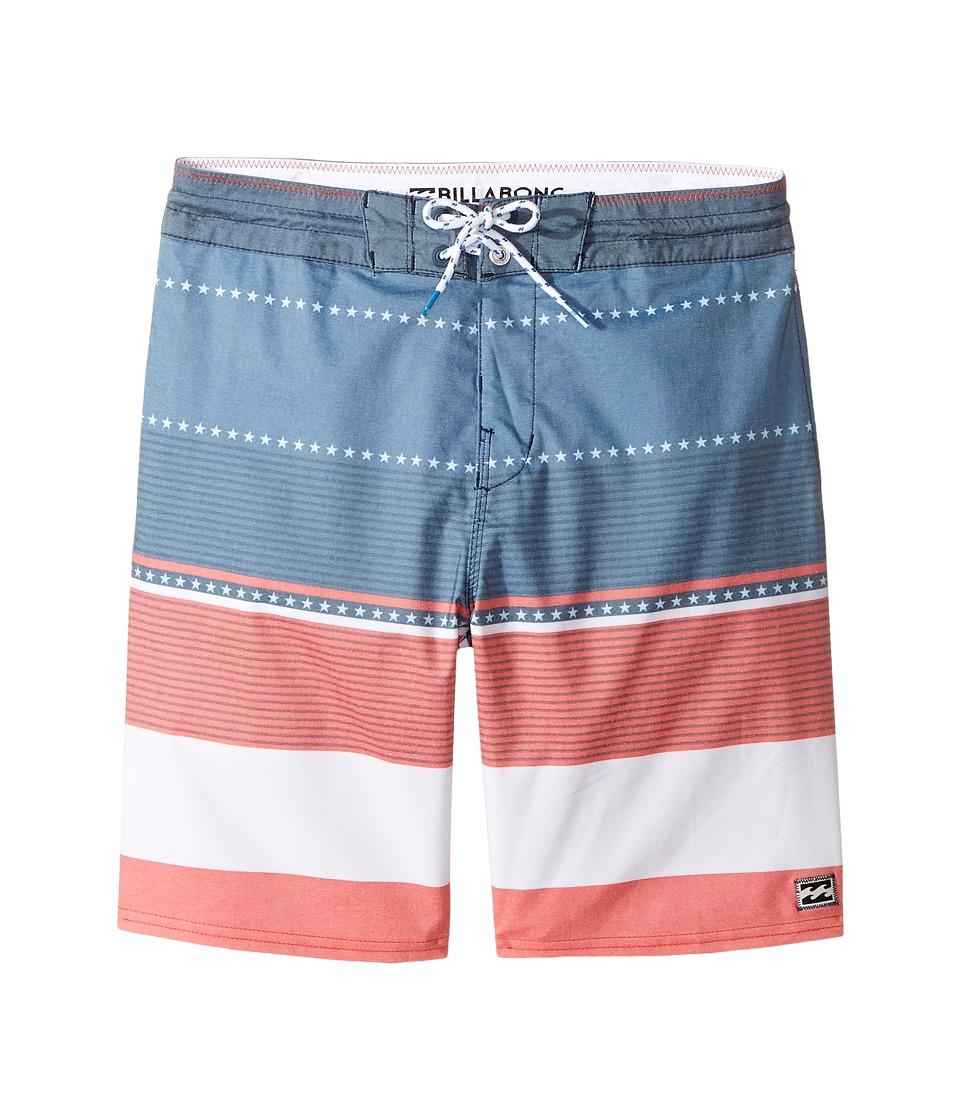 Billabong Kids - Spinner LT Print Boardshorts (Big Kids) (Navy) Boy's Swimwear