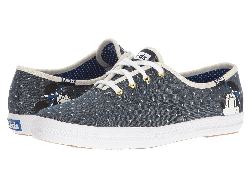Keds - Champion Minnie (Blue) Women's Lace up casual Shoes