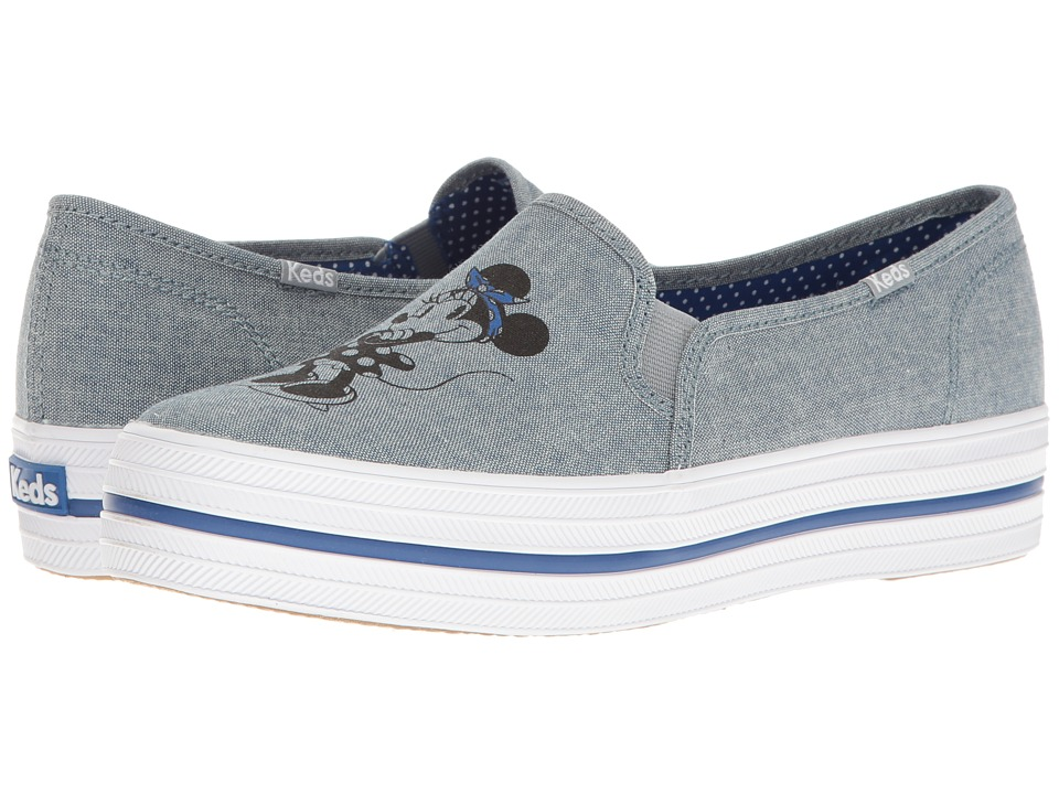 Keds - Triple Decker Minnie (Dark Blue) Women's Slip on Shoes