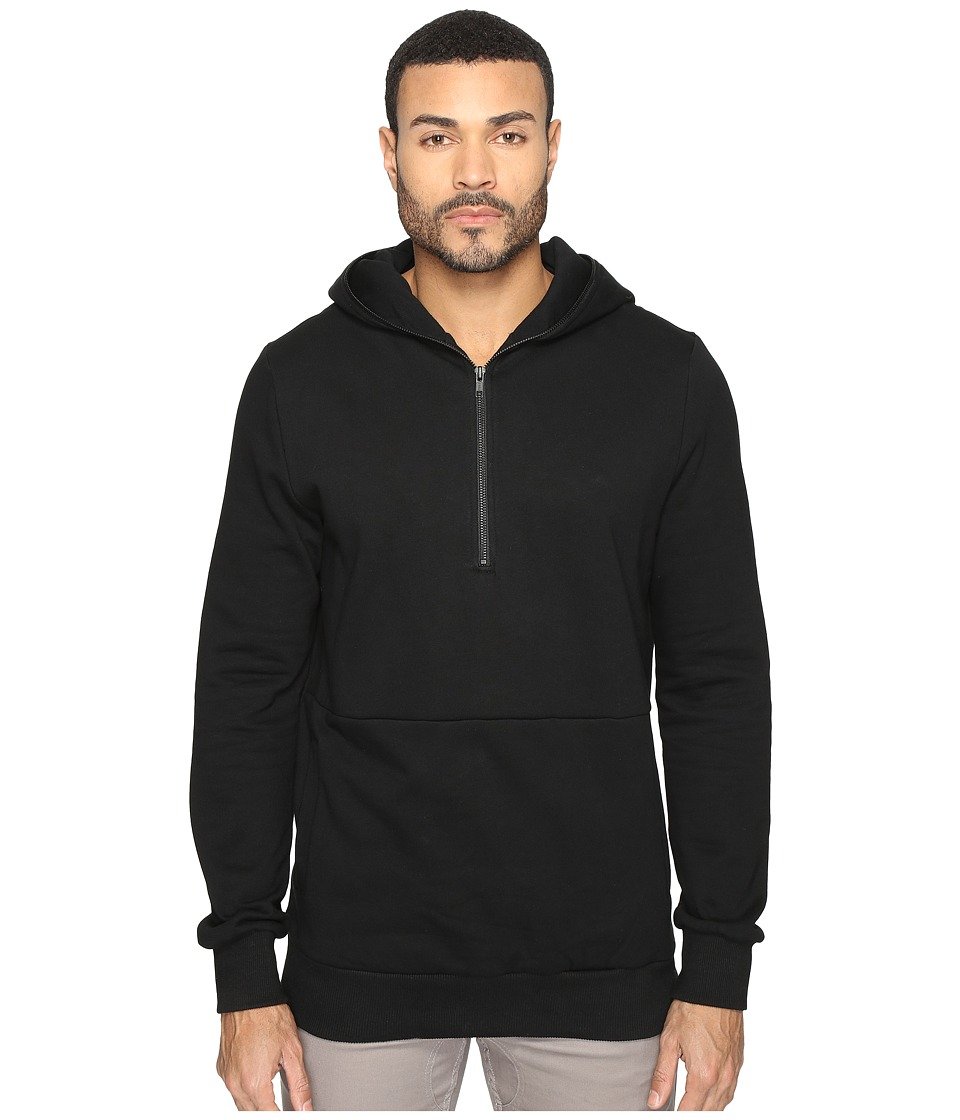 nANA jUDY - 1/2 Zip Hoodie (Black) Men's Sweatshirt