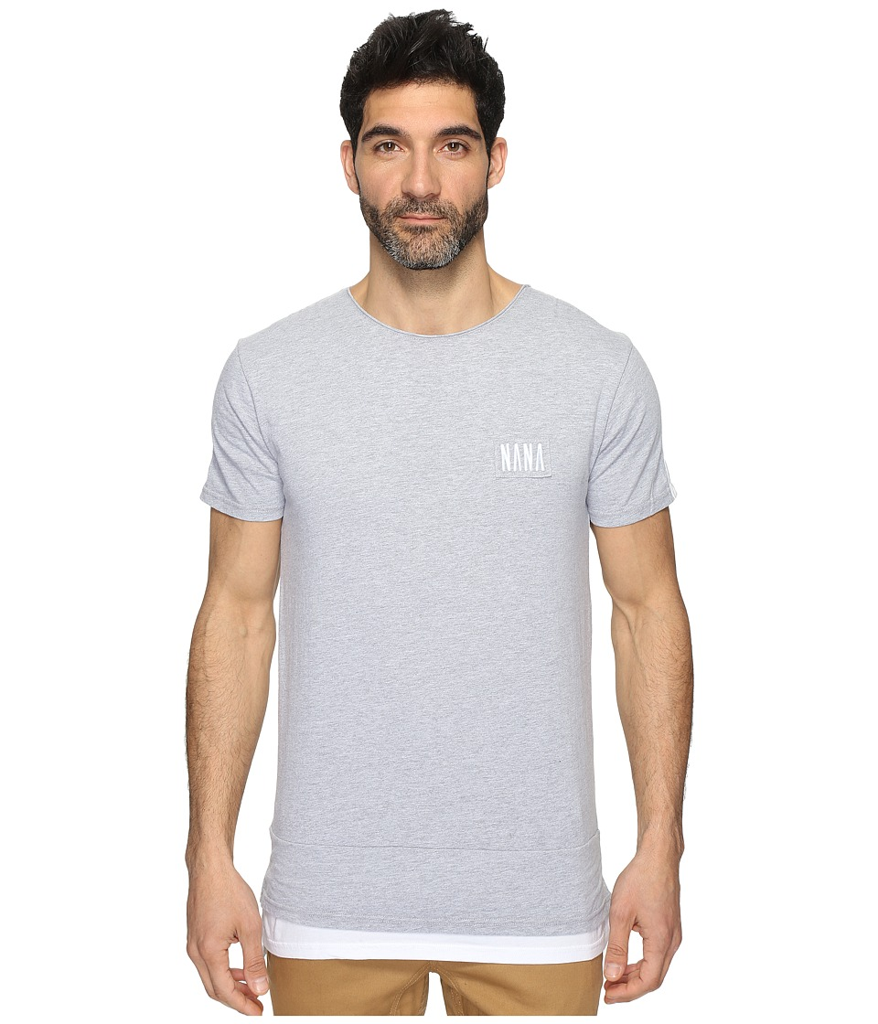 nANA jUDY - Jervis Tee (Grey Marl/White) Men's T Shirt