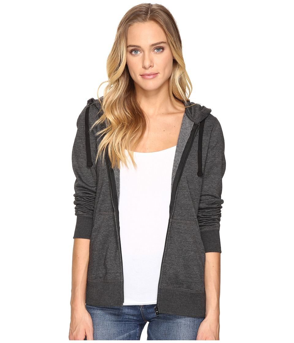 Hurley - Solid Icon Zip Fleece (Black Heather) Women's Sweatshirt