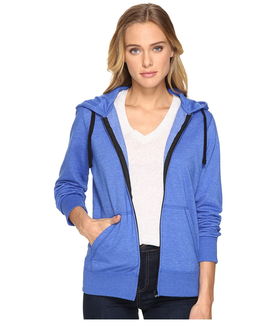 Hurley Solid Icon Zip Fleece (Heather Racer Blue) Women