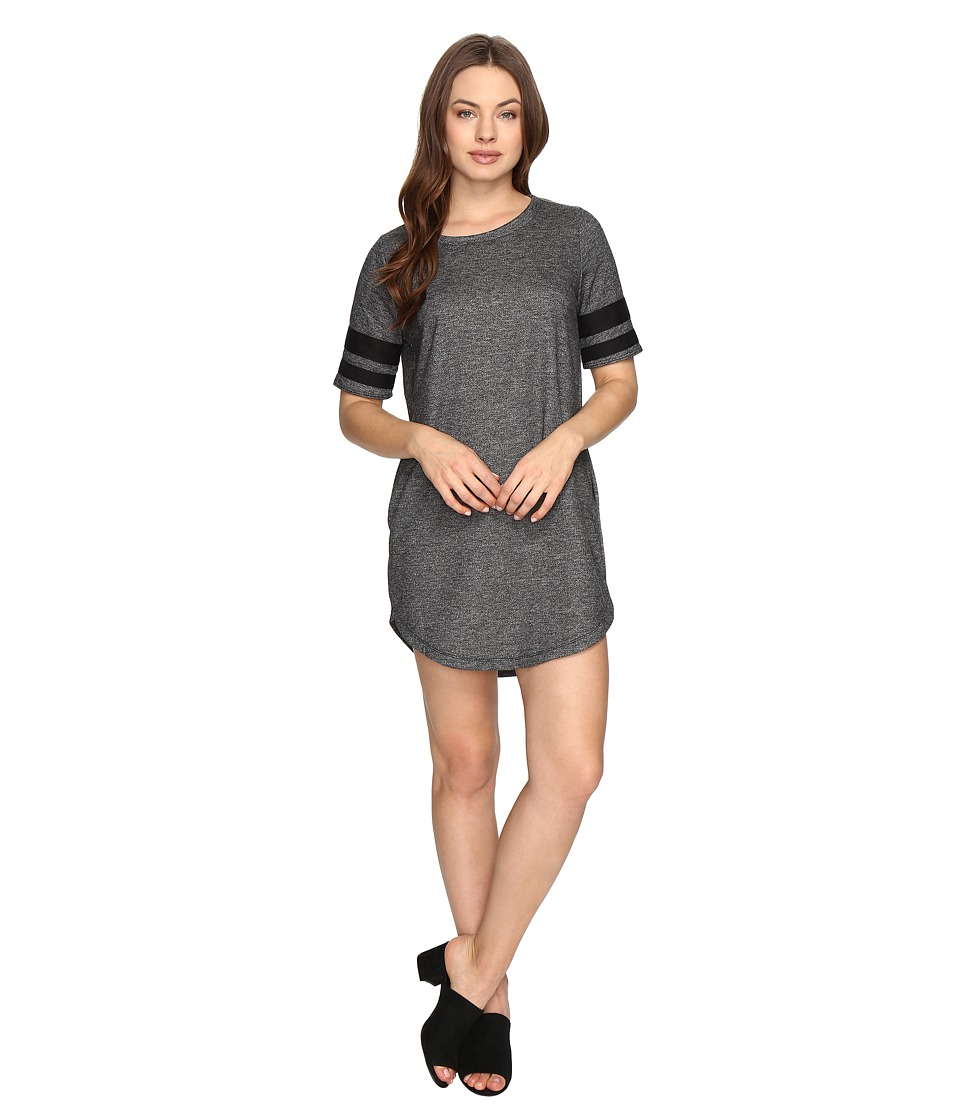 Brigitte Bailey - Juni Dress with Striped Sleeves (Charcoal) Women's Dress