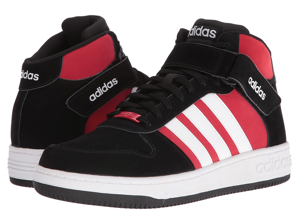 adidas - Team Court Mid (Black/White/Bold Red) Men's Court Shoes