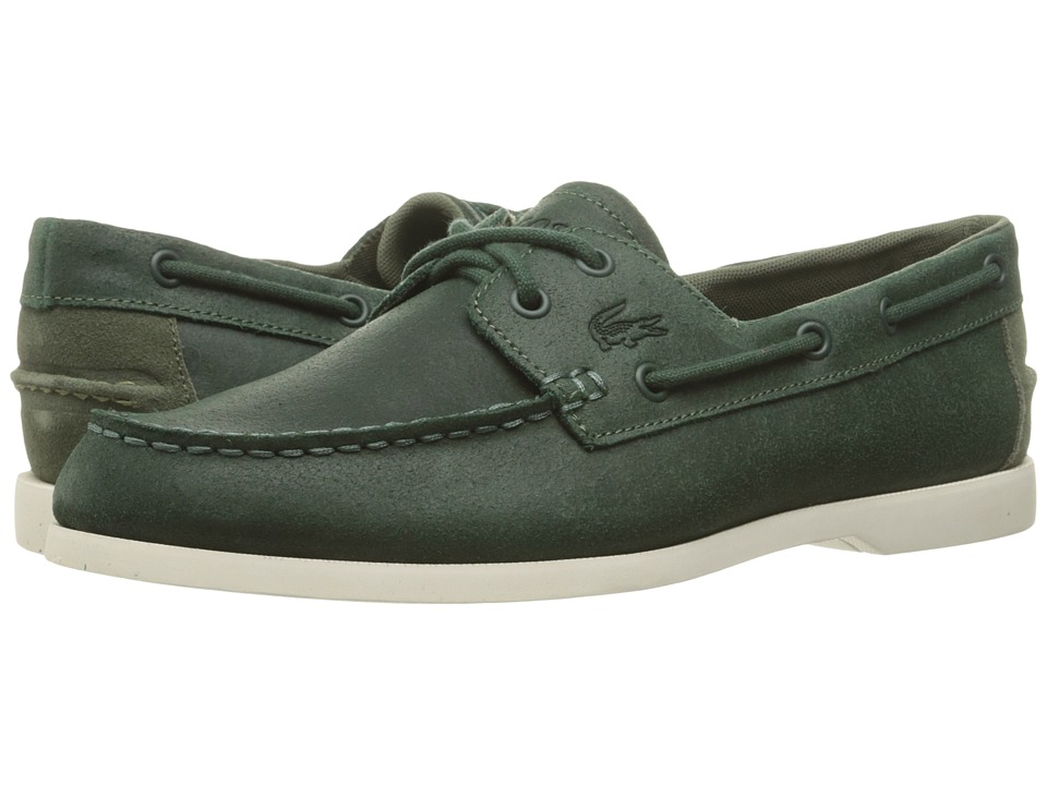 Lacoste Navire Casual 316 1 Dark Green Mens Shoes
