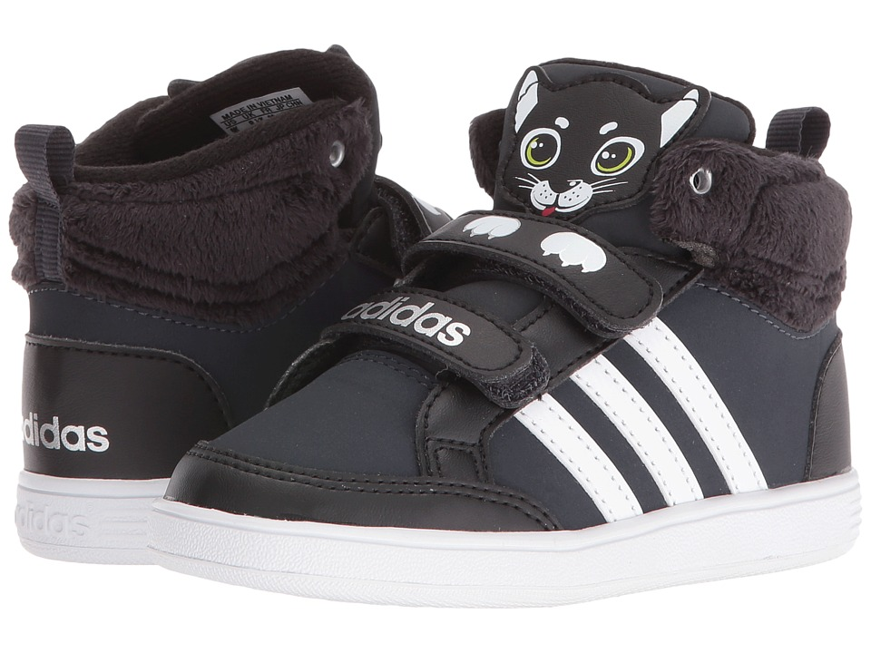 adidas Kids - Hoops Animal CMF Mid (Infant/Toddler) (Black/White/Grey) Kids Shoes