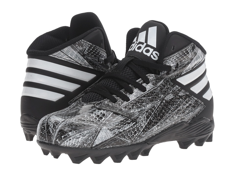 adidas Kids - Freak Mid (Toddler/Little Kid/Big Kid) (Black/Black/Titanium) Kids Shoes