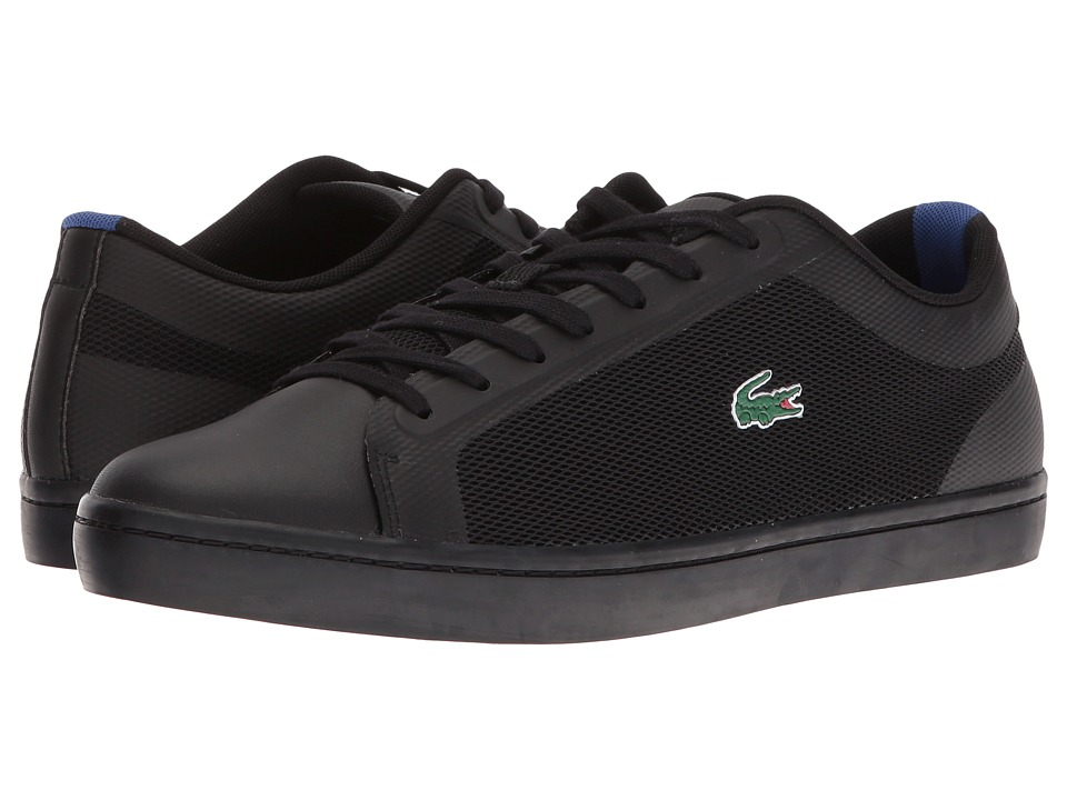 Lacoste - Straightset SR 316 1 (Black/Black) Men's Shoes