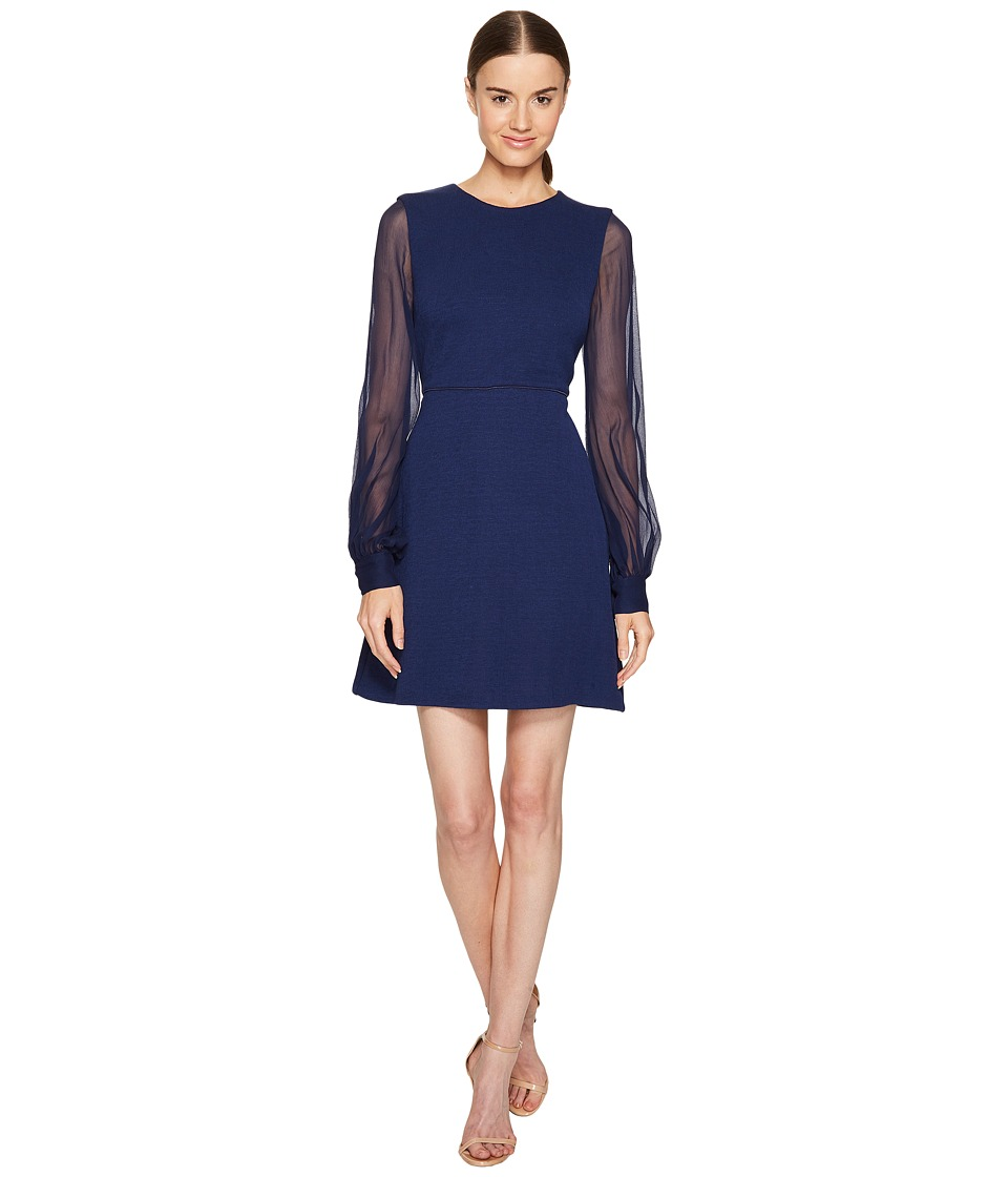 Sportmax - Sand Long Sleeve Dress (Blue) Women's Dress