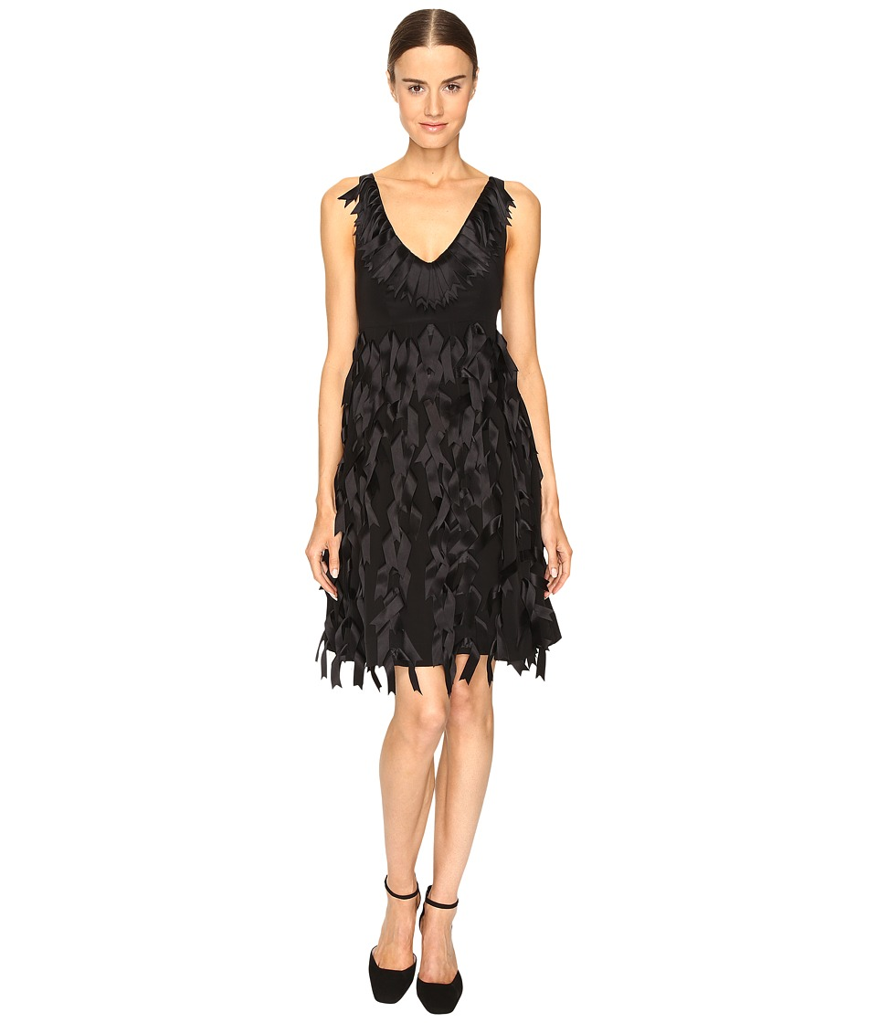 Sportmax - City Textured Dress (Nero) Women's Dress