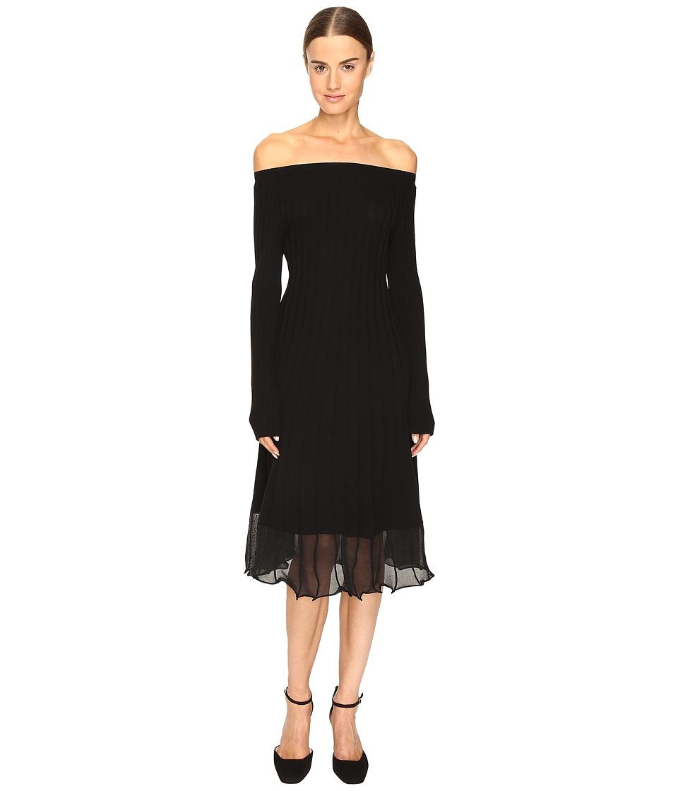 Sportmax - Selim Off the Shoulder Long Sleeve Dress (Nero) Women's Dress
