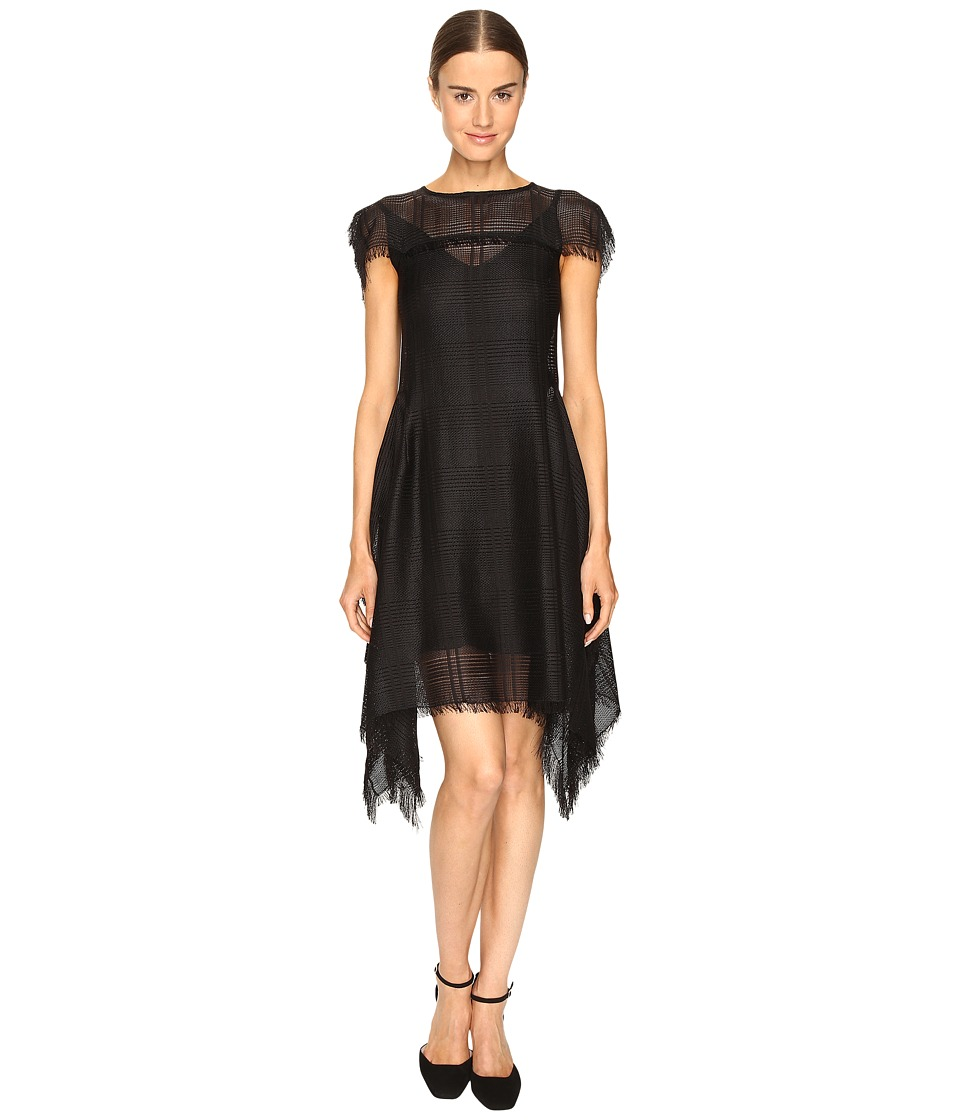 Sportmax - Dire Short Sleeve Handkerchief Dress (Black) Women's Dress