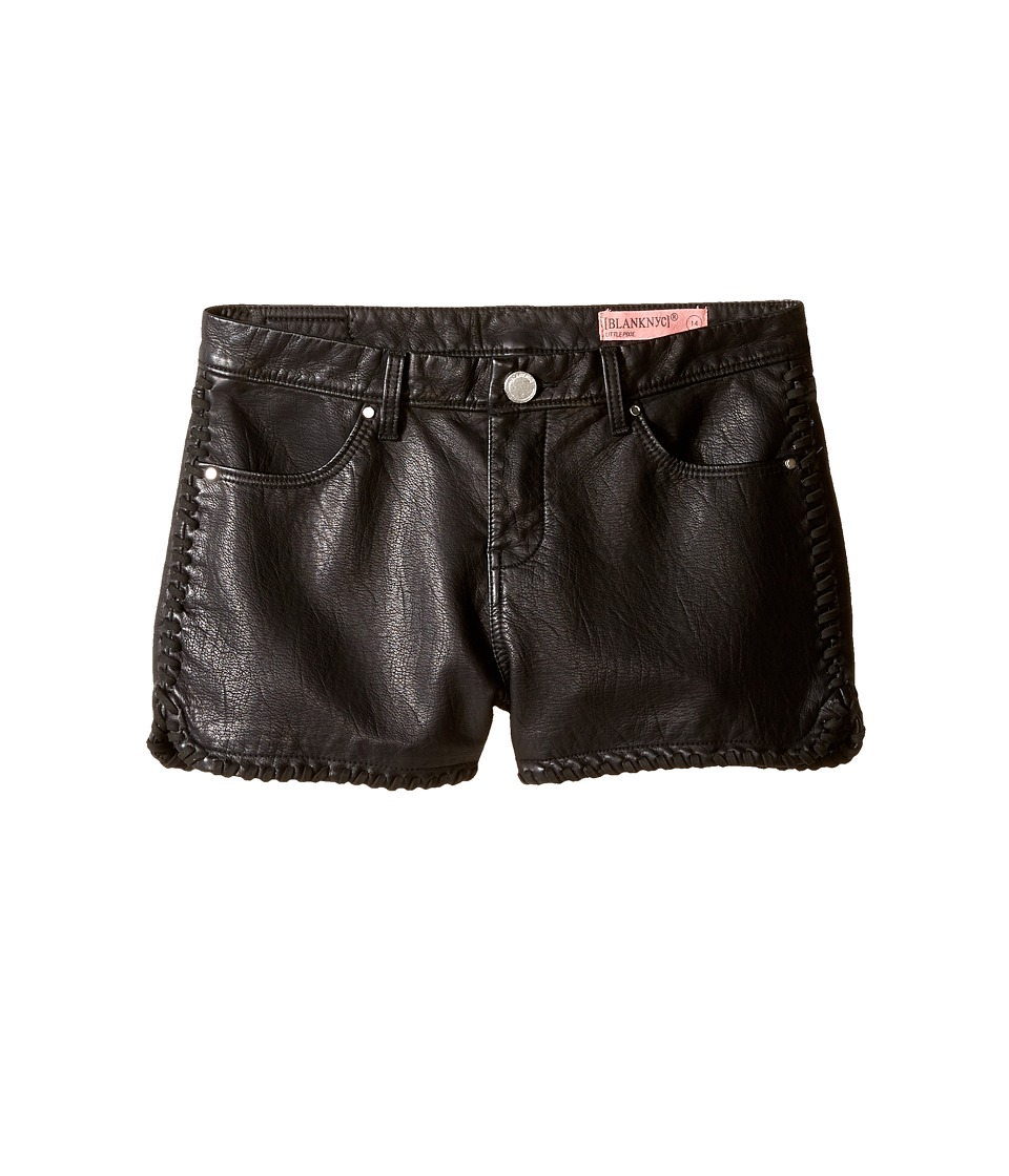 Blank NYC Kids - Vegan Leather Detailed Shorts in Lace-Up (Big Kids) (Lace-Up) Girl's Shorts