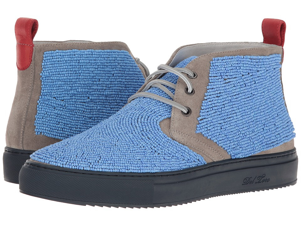 Del Toro - High Top Beaded Chukka Sneaker (Light Blue) Men's Shoes