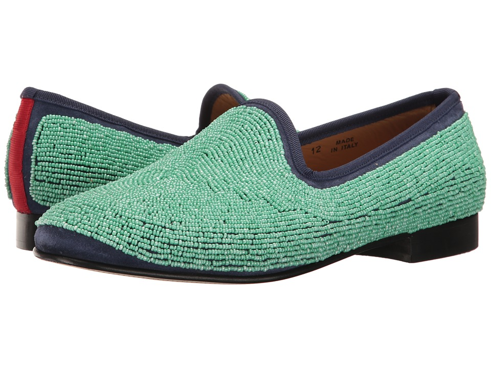 Del Toro - Prince Beaded Loafer (Teal) Men's Slip on Shoes