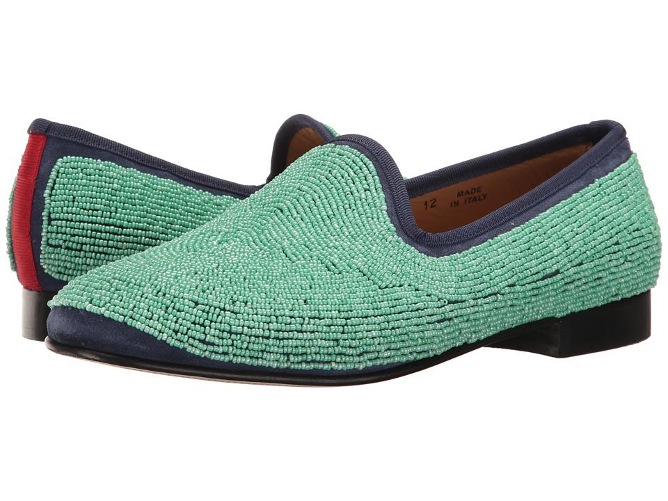 Del Toro - Prince Beaded Loafer (Teal) Men's Slip on Shoes