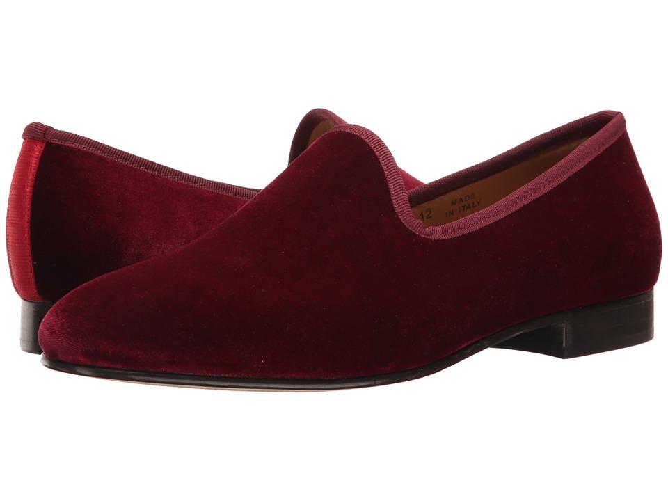 Del Toro - Prince Loafer (Merlot Velvet) Men's Slip on Shoes