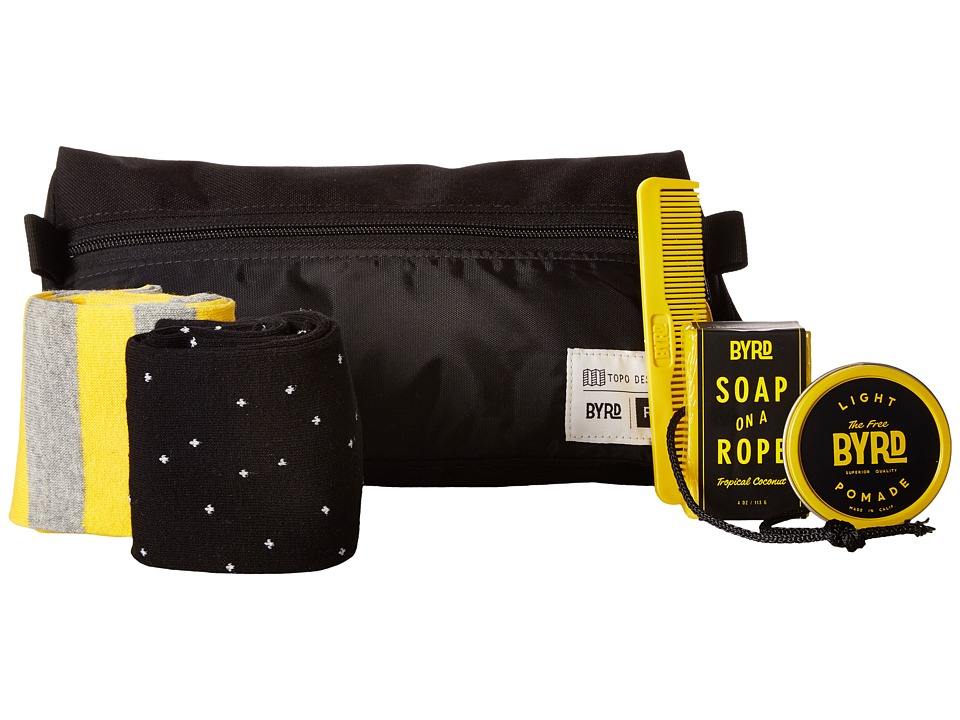 Richer Poorer - The Carry On (Black/Yellow) Toiletries Case