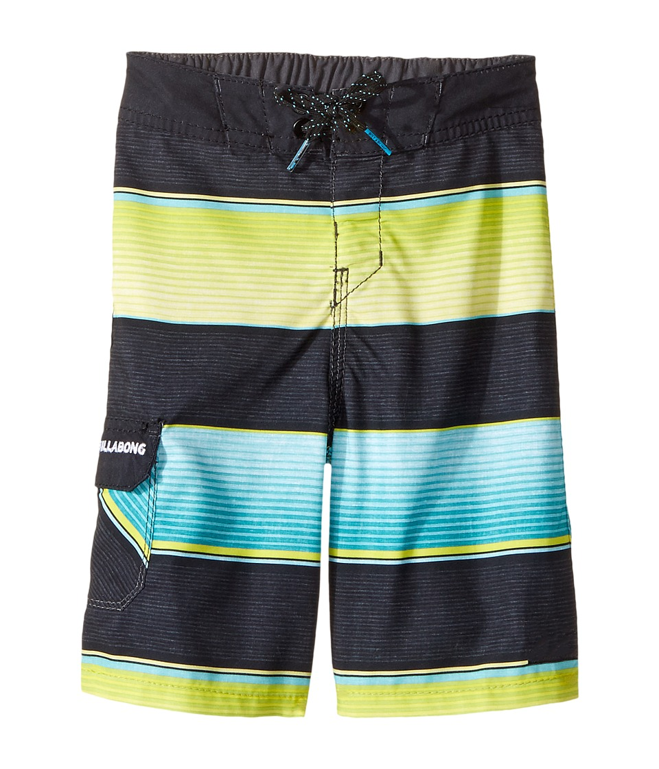 Billabong Kids All Day OG Stripe Boardshorts (Toddler/Little Kids) (Aqua) Boy