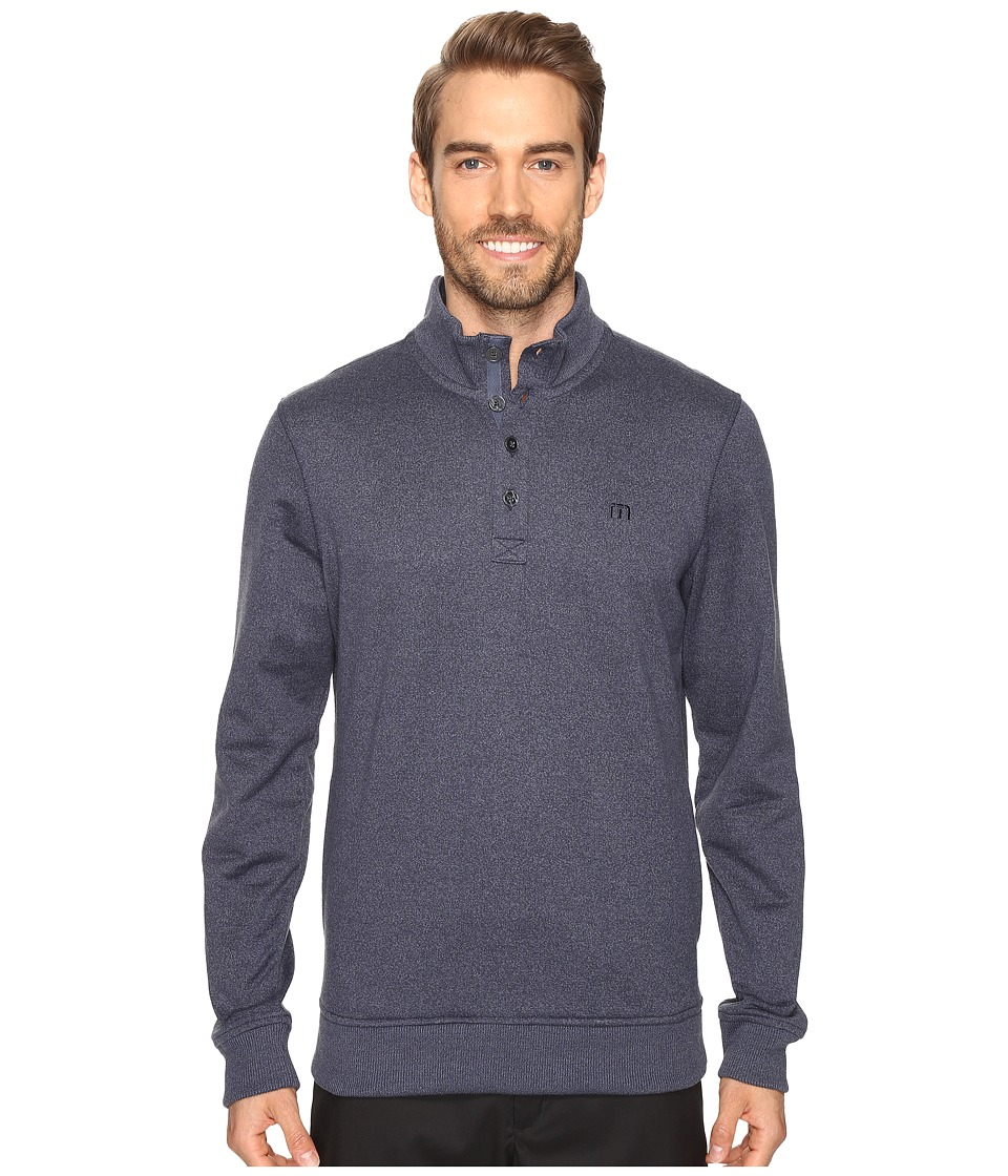 TravisMathew - Wall Sweater (Iris/Vintage Indigo) Men's Sweater