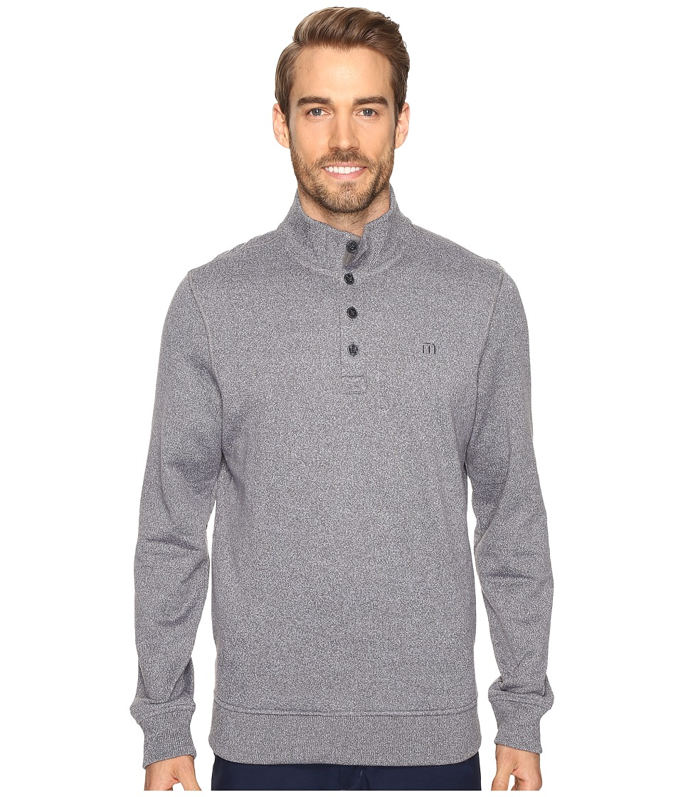 TravisMathew - Wall Sweater (Quiet Shade/White) Men's Sweater