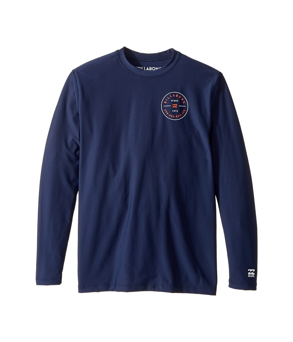 Billabong Kids Rotor LF Long Sleeve Wetshirt (Toddler/Little Kids/Big Kids) (Navy) Boy