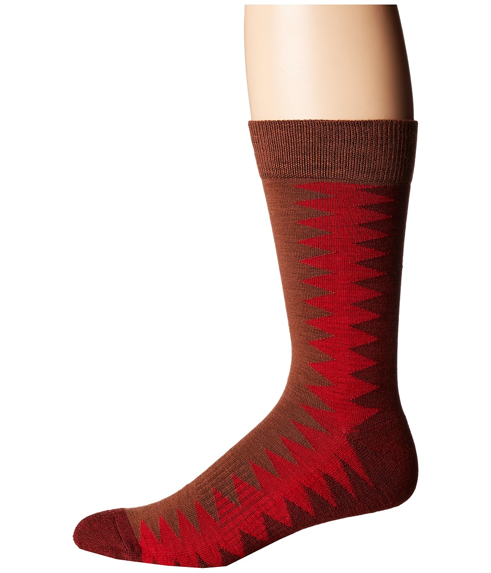 Richer Poorer - Sixx Hiking Light Sock (Brown Red) Men's Crew Cut Socks Shoes