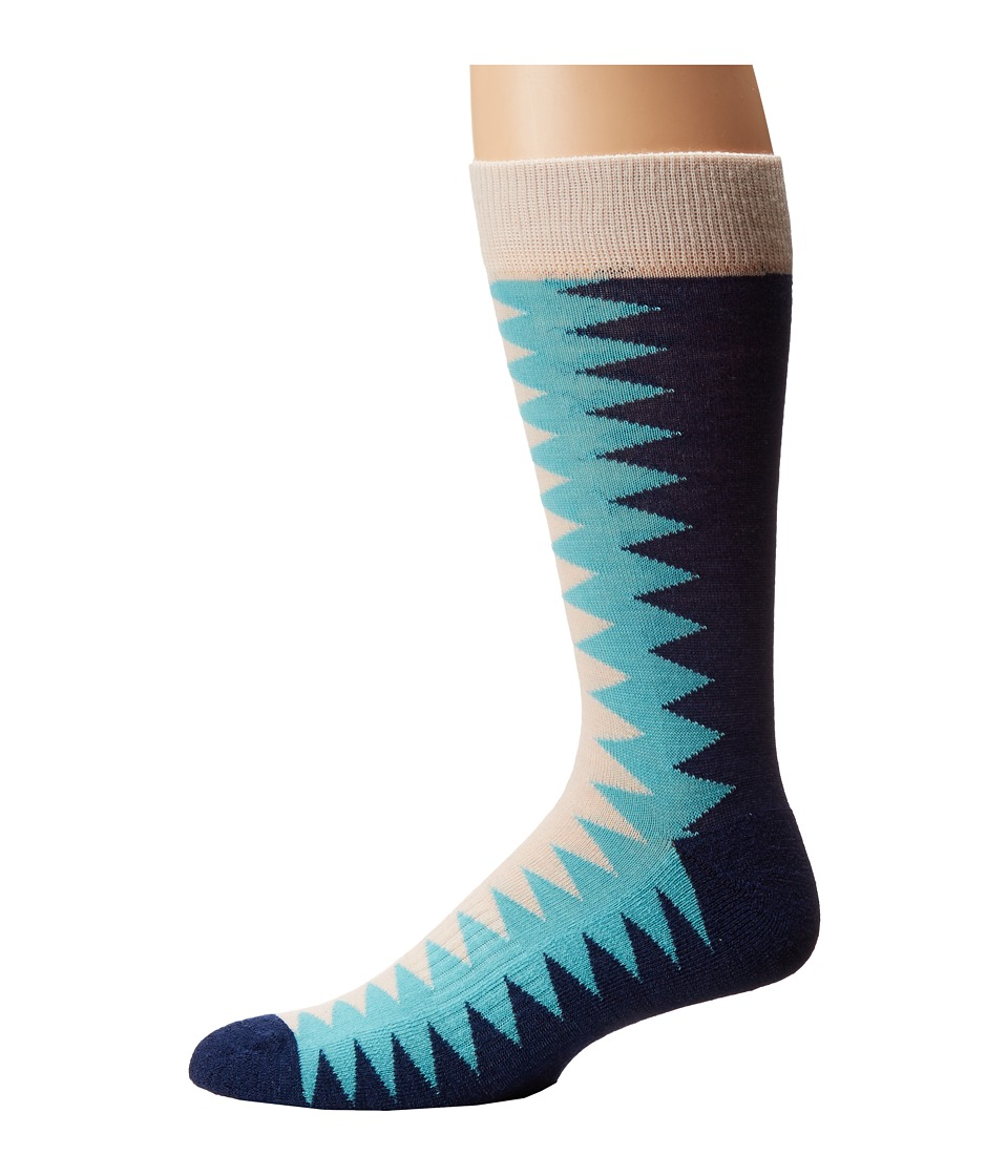 Richer Poorer - Sixx Hiking Light Sock (Oatmeal Blue) Men's Crew Cut Socks Shoes