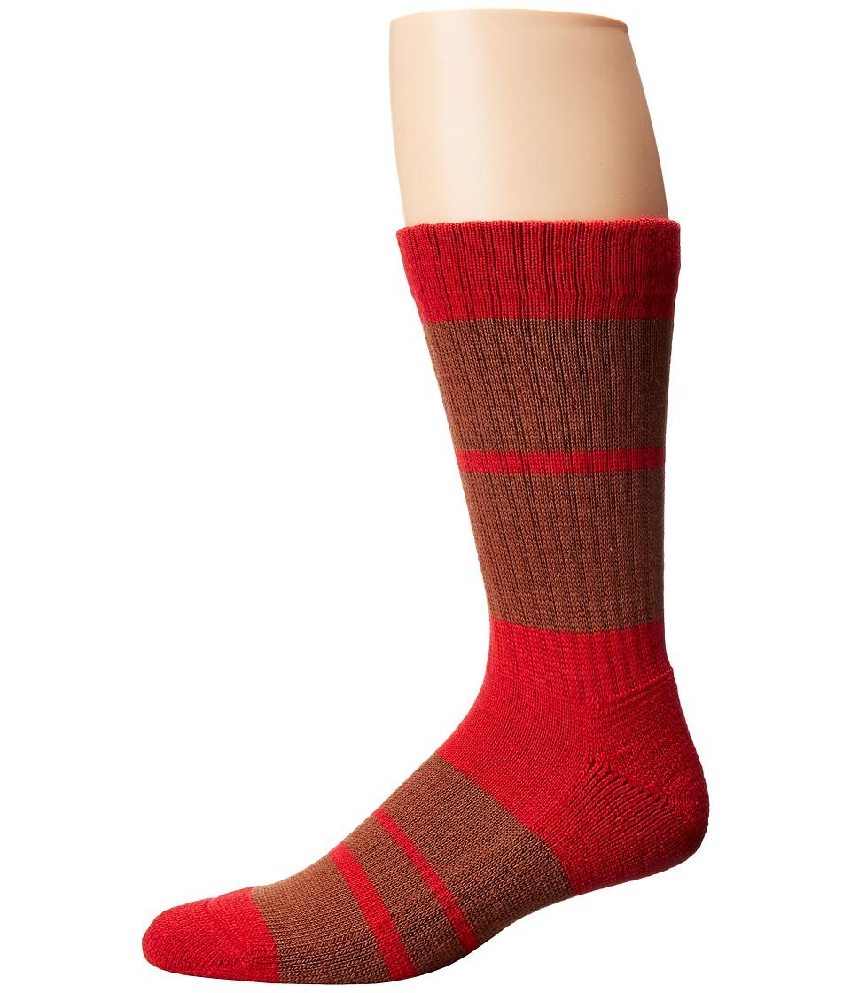 Richer Poorer - Vantage Hiking Heavy Sock (Red) Men's Crew Cut Socks Shoes
