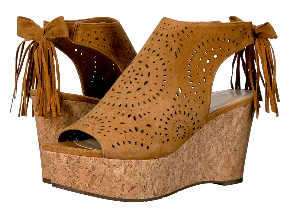 Marc Fisher LTD - Stacie (Light Rio Maple Kid Suede) Women's Wedge Shoes