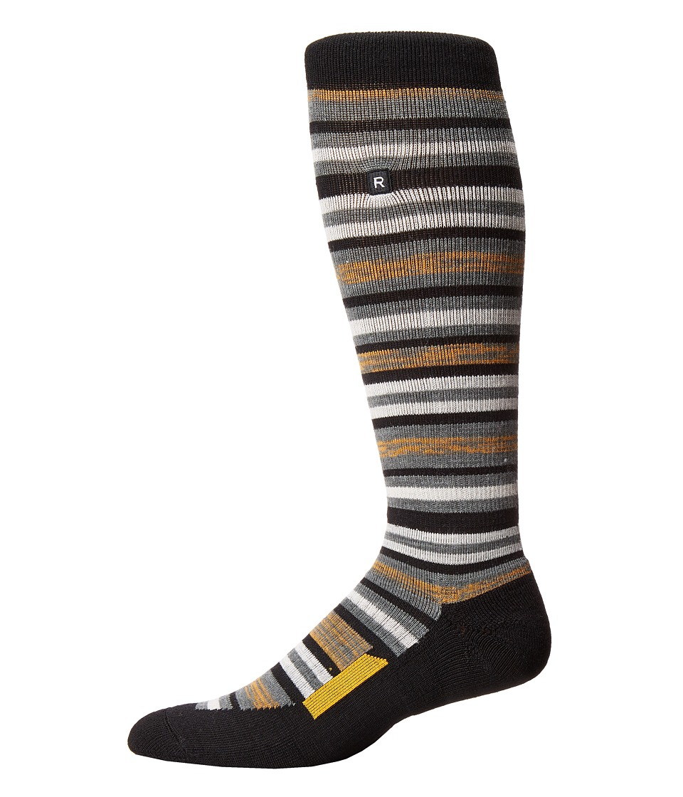 Richer Poorer - Morse Outdoor Snow Sock (Black Yellow) Men's Crew Cut Socks Shoes