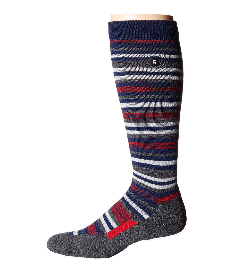 Richer Poorer - Morse Outdoor Snow Sock (Charcoal Red) Men's Crew Cut Socks Shoes