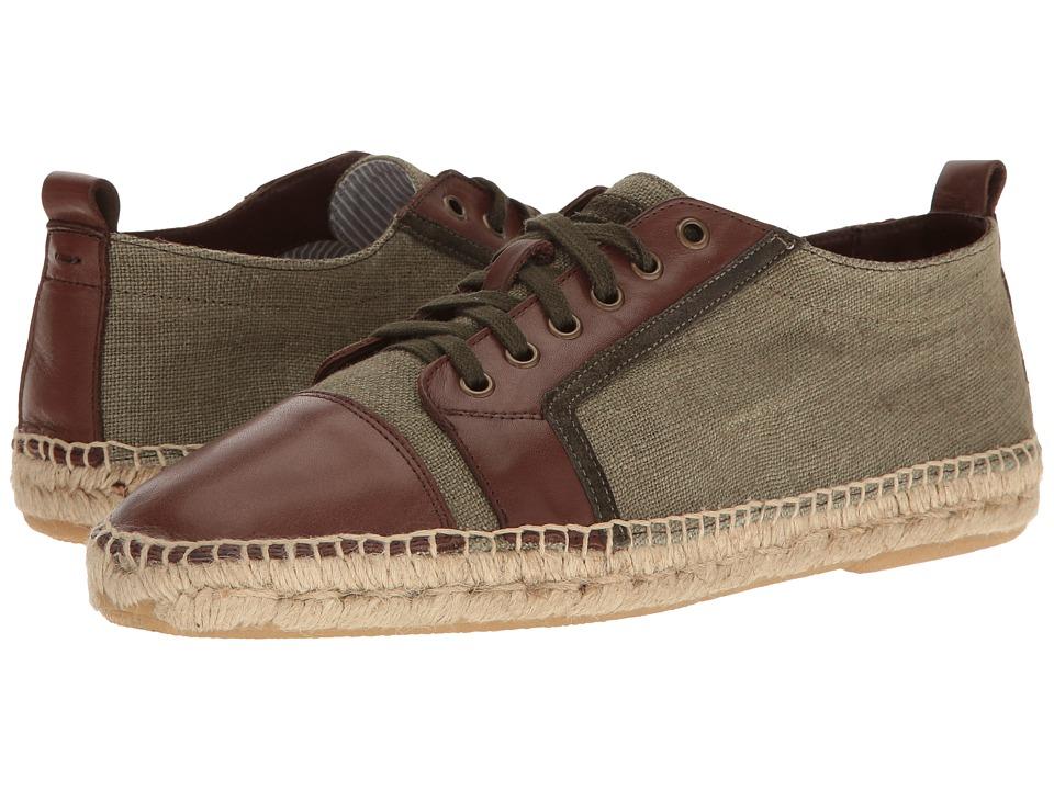 Michael Bastian Gray Label - Rey Low Top (Olive Noir) Men's Lace up casual Shoes
