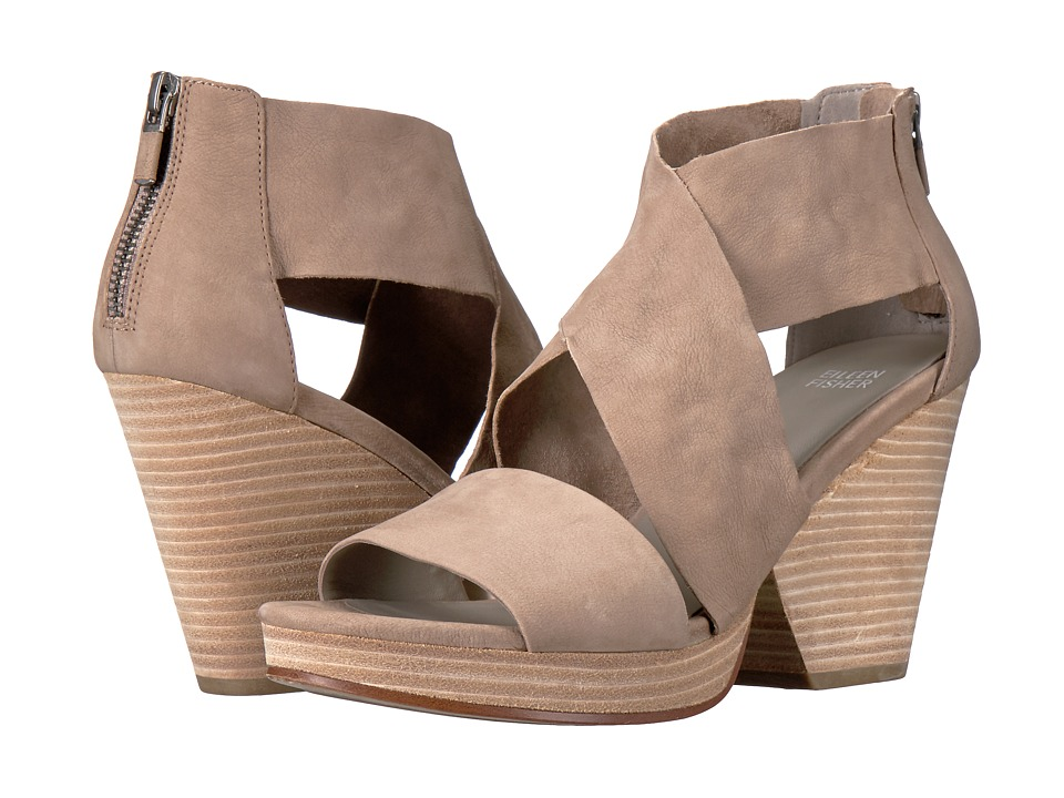 Eileen Fisher Ellis (Earth Tumbled Nubuck Leather) High Heels