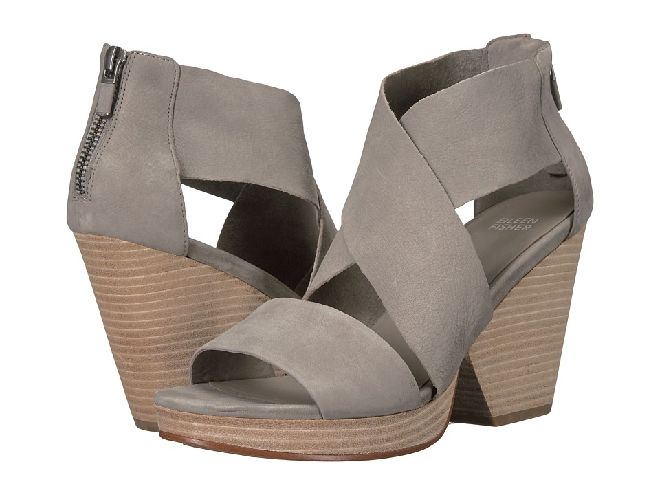 Eileen Fisher Ellis (Moon Tumbled Nubuck Leather) High Heels