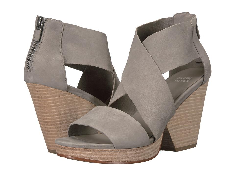 Eileen Fisher - Ellis (Moon Tumbled Nubuck Leather) High Heels