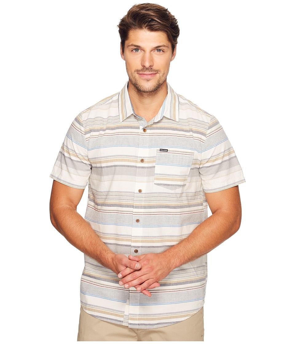 Volcom - Rambler Short Sleeve Woven (Egg White) Men's Clothing