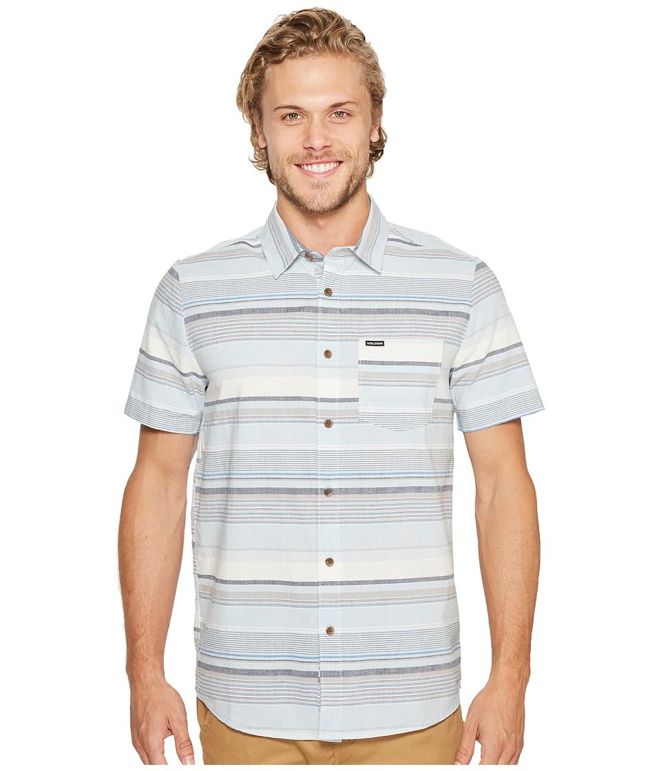 Volcom - Rambler Short Sleeve Woven (Cloud Blue) Men's Clothing