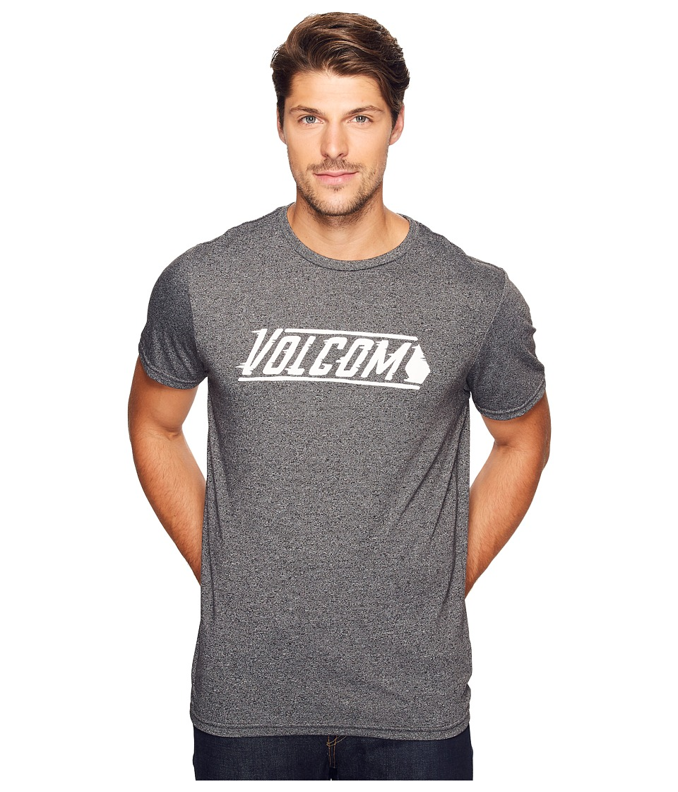 Volcom - Stone Cruz Short Sleeve Tee (Heather Black) Men's T Shirt