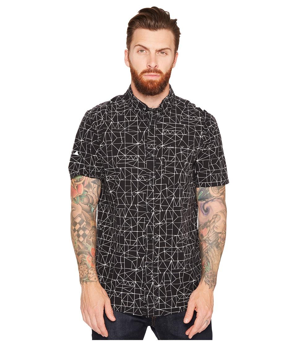 Volcom - Invert Geo Short Sleeve Woven (Black) Men's Clothing