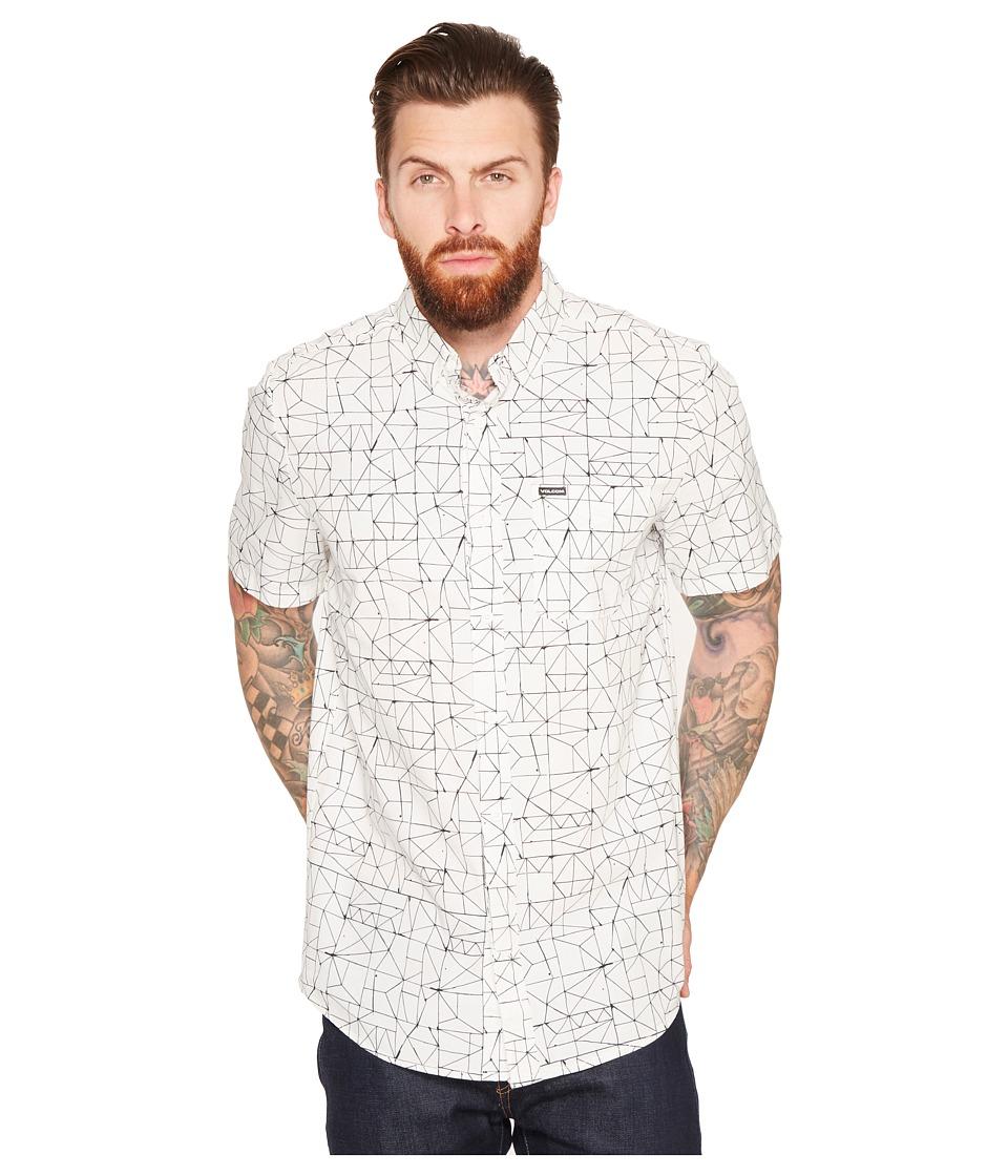 Volcom - Invert Geo Short Sleeve Woven (Cloud) Men's Clothing