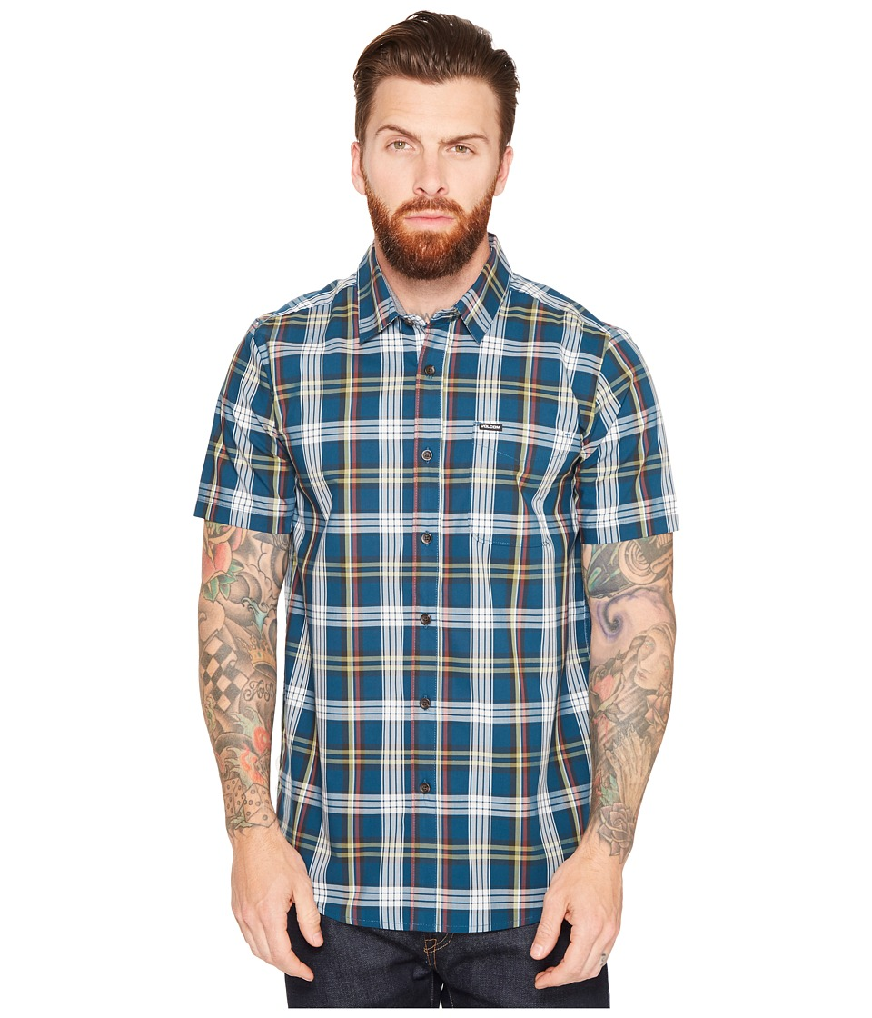 Volcom - Surplus Short Sleeve Woven (Flight Blue) Men's Clothing