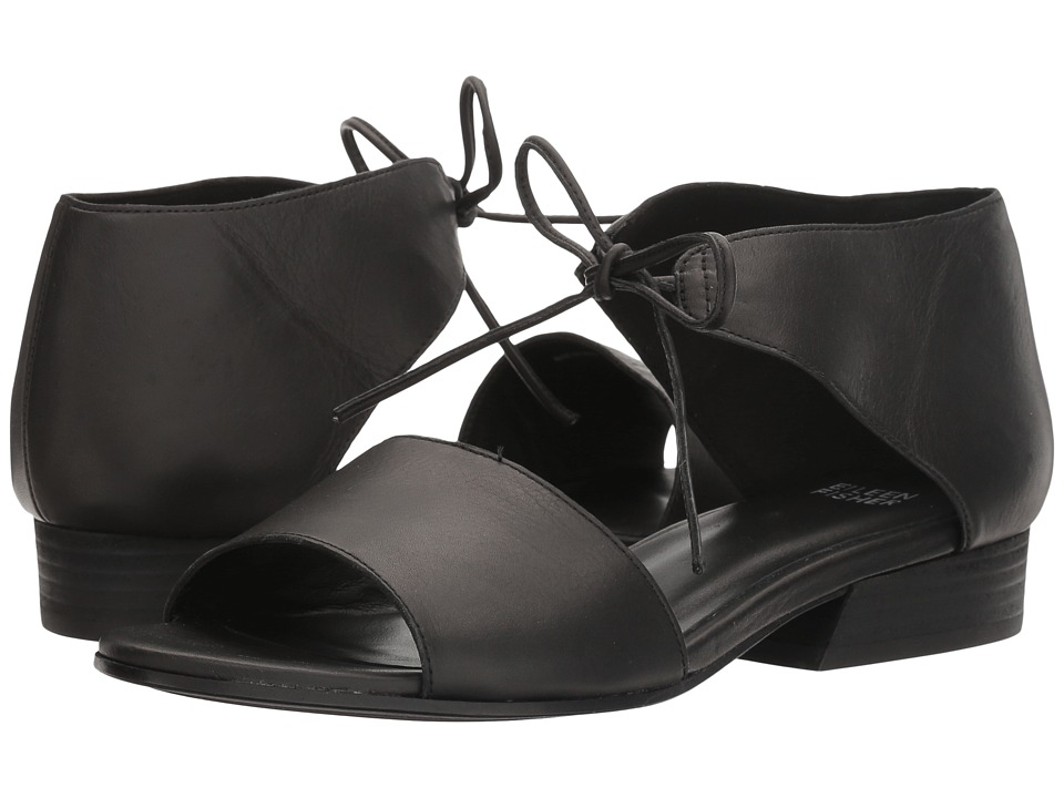 Eileen Fisher Ely (Black Washed Leather) Women